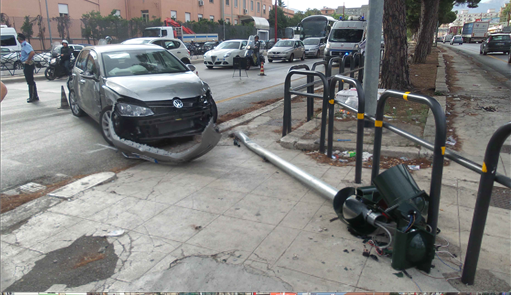 incidente in viale Regione Siciliana